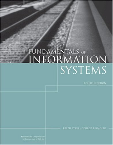 Fundamentals of Information Systems: A Managerial Approach [With CDROMWith Online Companion] 9781423901136