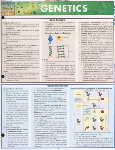 Genetics Laminate Reference Chart 9781423203063