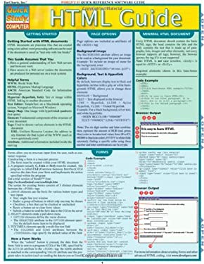 HTML Guide Laminated Reference Chart 9781423201748