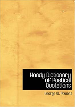 Handy Dictionary of Poetical Quotations 9781426485053