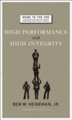 High Performance with High Integrity 9781422122952
