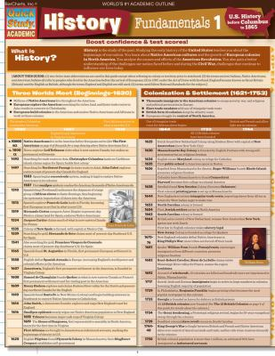 History Fundamentals 1: U.S. History Before Columbus to 1865 9781423214274