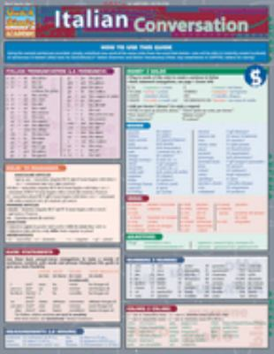 Italian Conversation Laminated Reference Chart 9781423201786