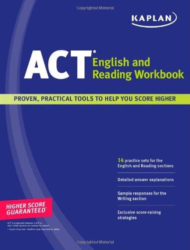 Kaplan ACT English and Reading Workbook by Staff of Kaplan