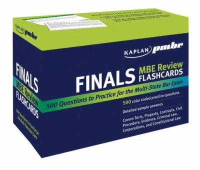 Kaplan Pmbr Finals: MBE Review Flashcards 9781427797247