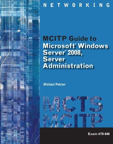 Lab Manual for MCITP Guide to Microsoft Windows Server 2008, Server Administration: Exam #70-646 9781423902829