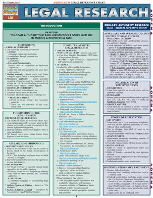 Legal Research Reference Chart 9781423205364