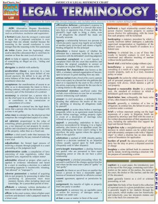 Legal Terminology Reference Guide