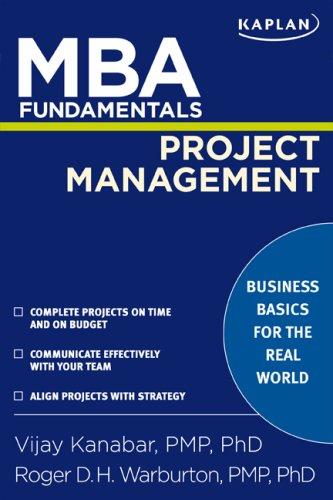 MBA Fundamentals Project Management 9781427797445