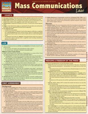 Mass Communications Law 9781423216476
