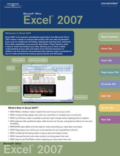 Microsoft Office Excel 2007 Coursenotes 9781423912484