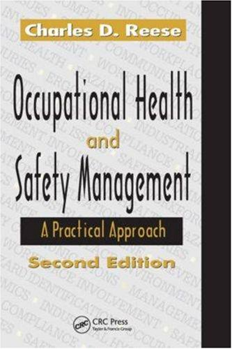 Occupational Health and Safety Management: A Practical Approach 9781420051803
