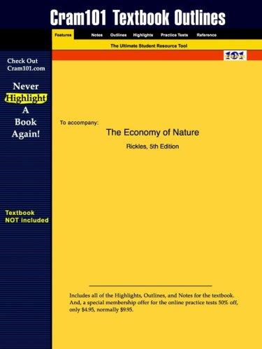 Studyguide for Economy of Nature: Data Analysis Update by Robert E. Ricklefs, ISBN 9780716738831 9781428803305