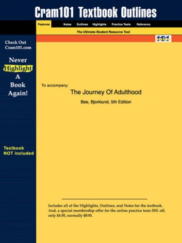 Studyguide for the Journey of Adulthood by Bee, ISBN 9780130970411 9781428818002