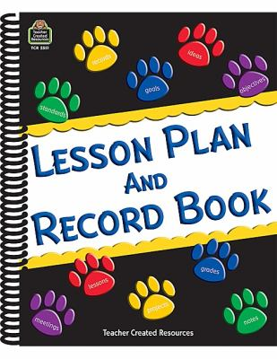 Paw Prints Lesson Plan and Record Book 9781420625516