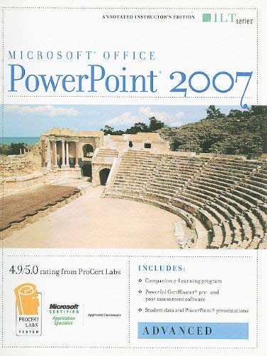 PowerPoint 2007: Advanced [With 2 CDROMs] 9781423918295