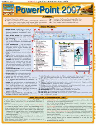 PowerPoint 2007 Quick Reference Software Guide 9781423202769