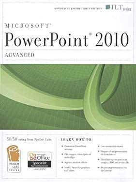 PowerPoint 2010: Advanced [With CDROM] 9781426020704