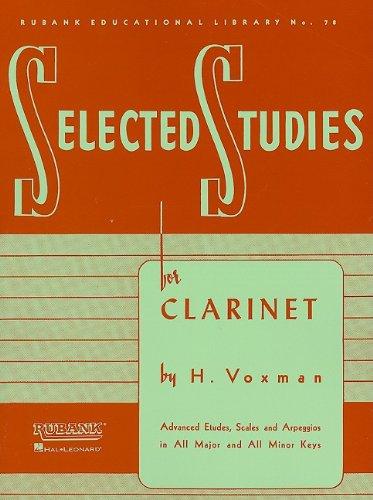 Selected Studies: Clarinet 9781423445258