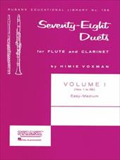 Seventy-Eight Duets for Flute and Clarinet, Volume I: Easy to Medium