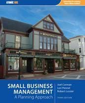 Small Business Management: A Planning Approach 9781426630569