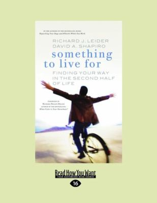 Something to Live for: Finding Your Way in the Second Half of Life (Easyread Large Edition) 9781427086044