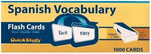 Spanish Vocabulary Flash Cards 9781423203612