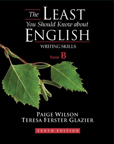 The Least You Should Know about English Writing Skills, Form B 9781428230798