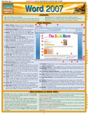 Word 2007 Quick Software Guide 9781423202721