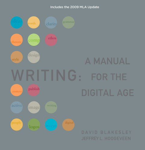 Writing: A Manual for the Digital Age 9781428290297