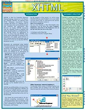 XHTML Laminated Reference Charts 9781423201755
