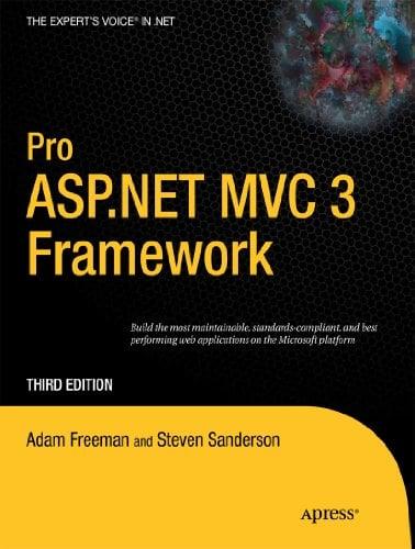 Pro ASP.Net MVC 3 Framework 9781430234043