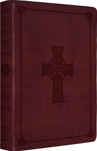 Large Print Thinline Reference Bible-ESV-Celtic Cross 9781433532818