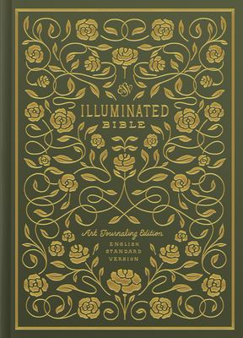 ESV Illuminated Bible, Art Journaling Edition (Hardcover, Green)