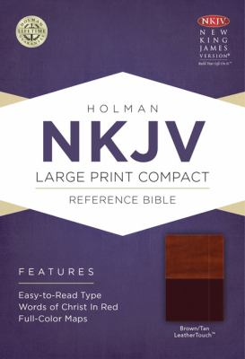 Large Print Compact Reference Bible-NKJV 9781433604942