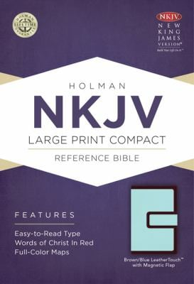 Large Print Compact Reference Bible-NKJV-Magnetic Flap 9781433606533