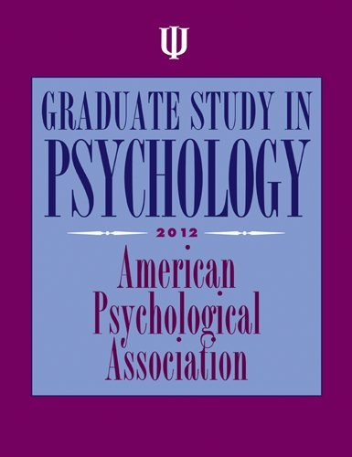 Graduate Study in Psychology 9781433810671