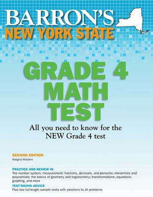 Barron's New York State Grade 4 Math Test 9781438000435