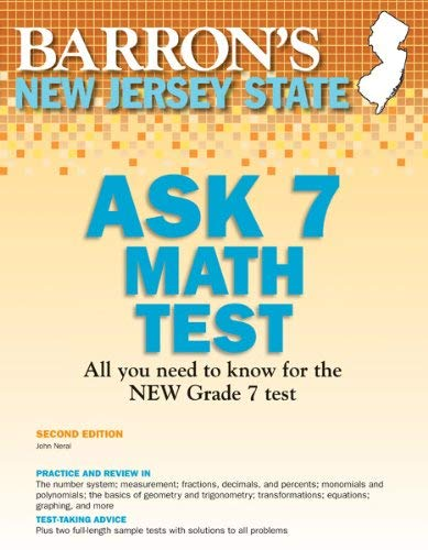 Barron's New Jersey Ask 7 Math Test 9781438000510