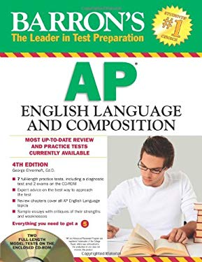 Barron's AP English Language and Composition [With CDROM] 9781438071299