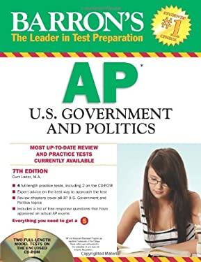 Barron's AP U.S. Government and Politics [With CDROM] 9781438071336