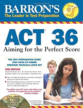 Barron's ACT 36: Aiming for the Perfect Score [With CDROM] 9781438072173