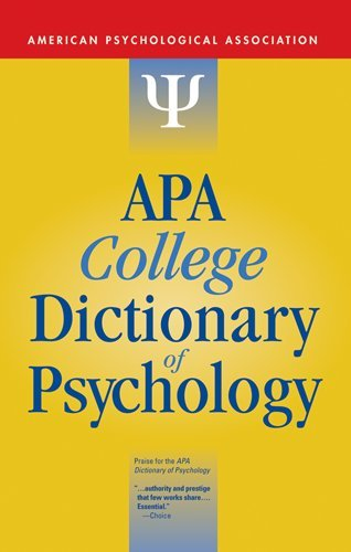 APA College Dictionary of Psychology 9781433804335
