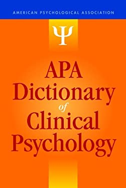 APA Dictionary of Clinical Psychology 9781433812071