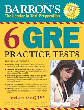 Barron's 6 GRE Practice Tests 9781438001005