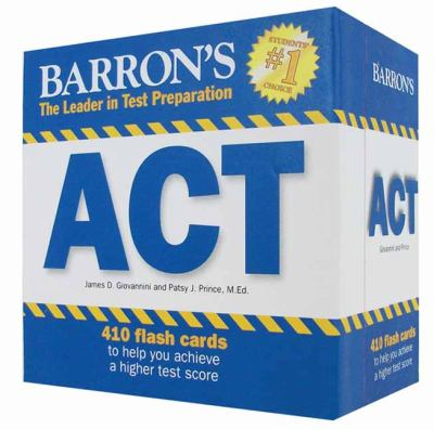 Barron's ACT Flash Cards 9781438071367