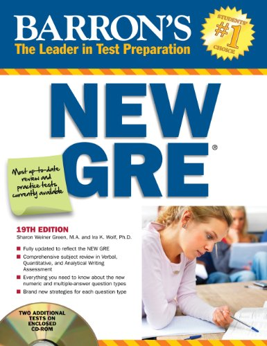 Barron's New GRE: Graduate Record Examination [With CDROM] 9781438070780