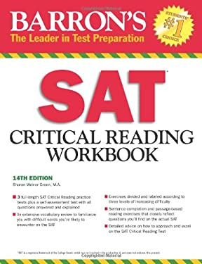 Barron's SAT Critical Reading Workbook 9781438000275