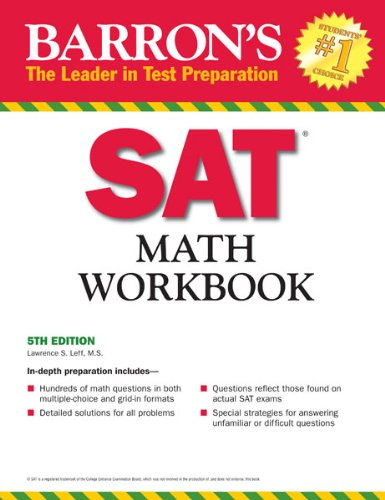 Barron's SAT Math Workbook, 5th Edition 9781438000282
