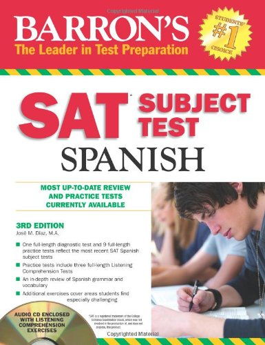 Barron's SAT Subject Test: Spanish [With CD (Audio)] 9781438070810